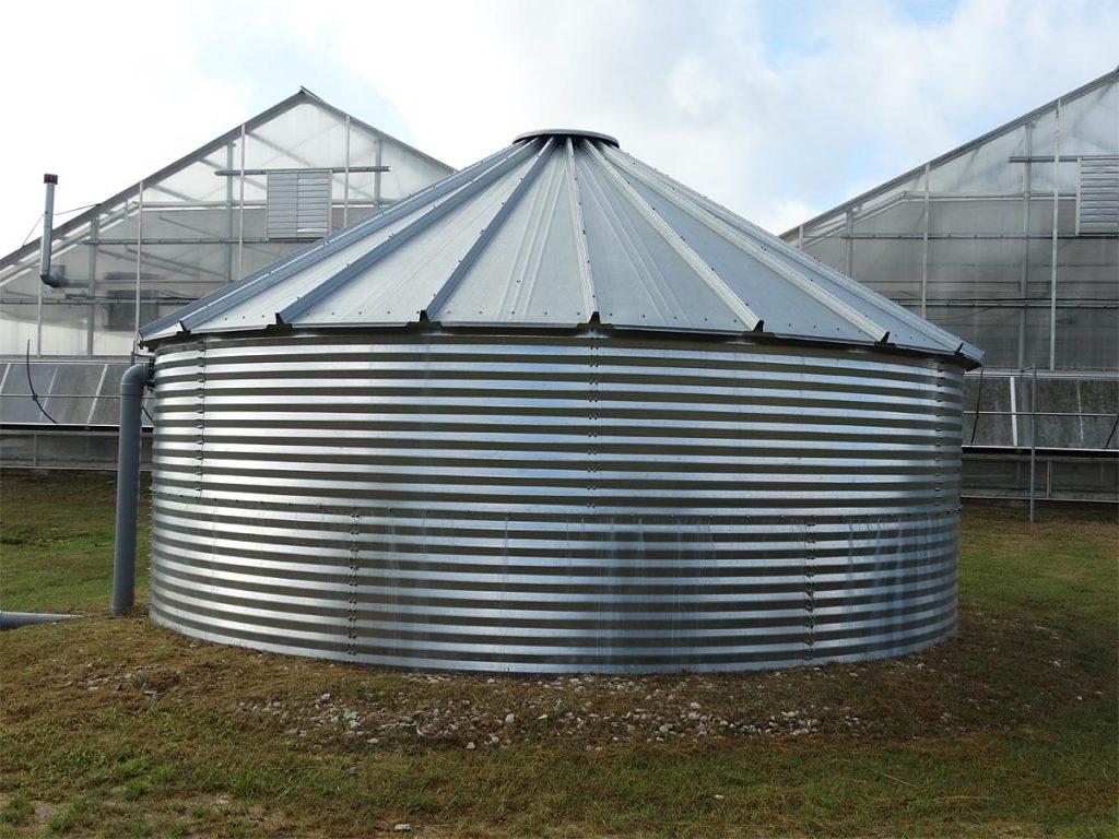 greenhouse water storage tank